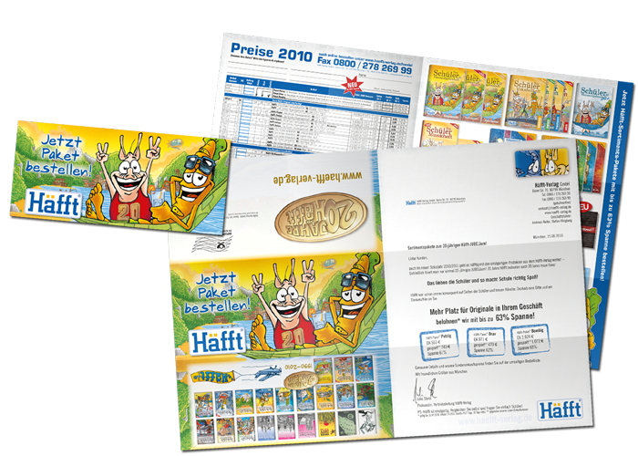 Mailing Poster Häfft avec une liste des prix