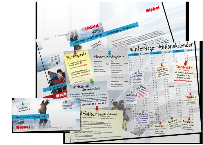 Poster Mailing Niebel Ski Aktionskalender