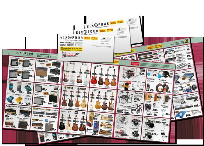 Poster Mailing Six Four avec des instruments de musique