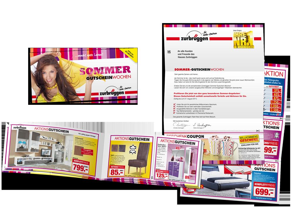 Mailing sous enveloppe Zurbruggen Sommer GutscheinWochen
